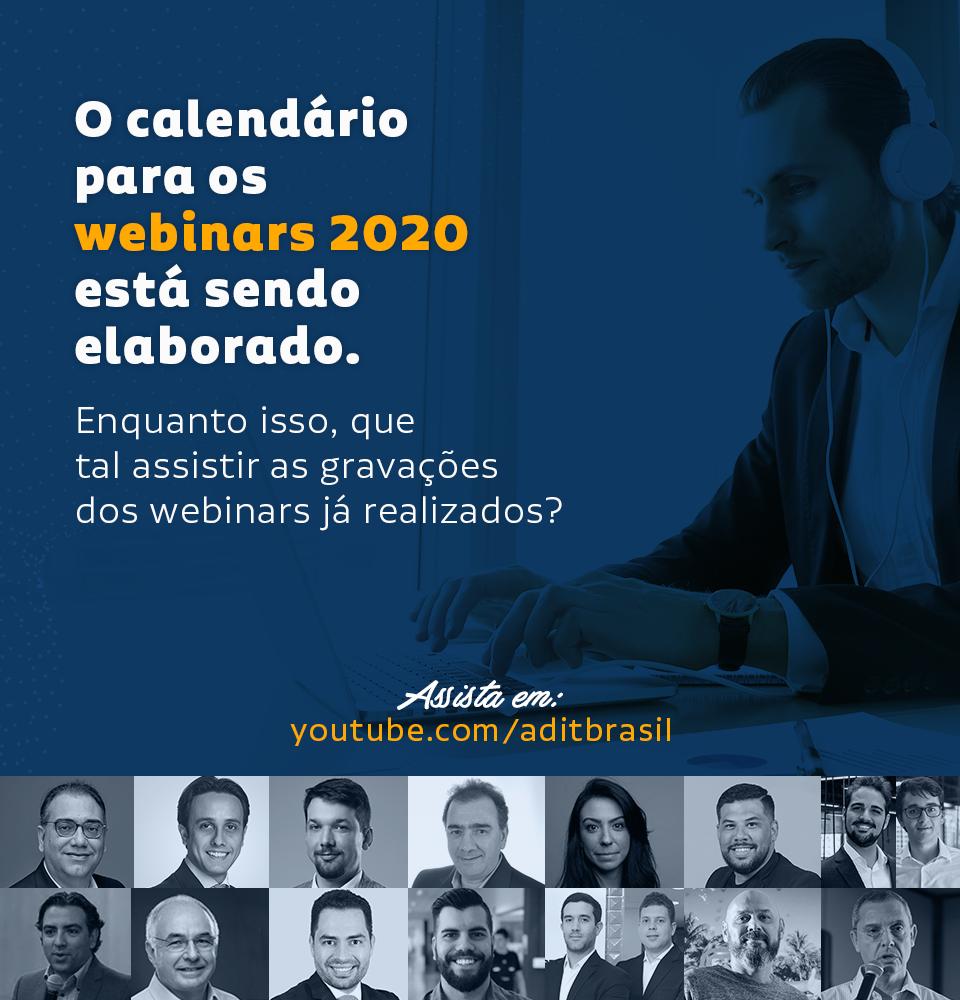 Em janeiro traremos os novos temas para os webinars de 2020